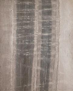 Deux stèles, 1956, résine sur bois, 123 x 100 cm.
